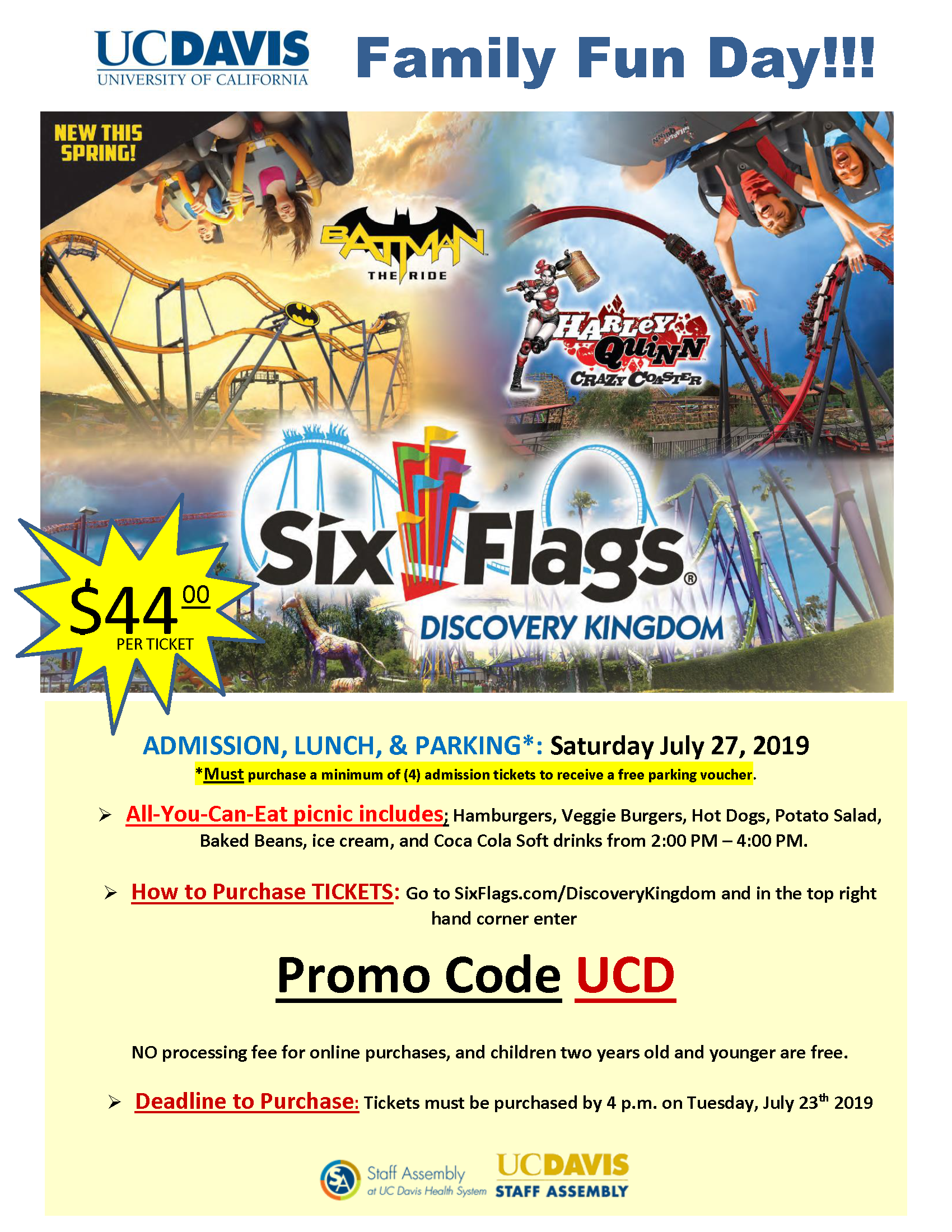 Six Flags Picnic Save the Date Flyer